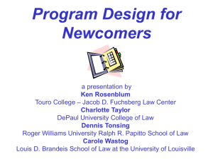 Program Design for Newcomers