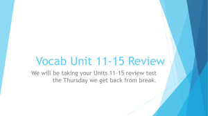 Vocab Unit 11-15 Review Booklet