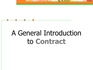 Contract Definition of a contract