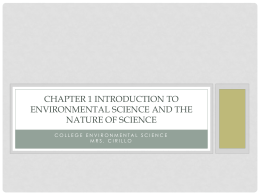 Introduction to and Nature of Science