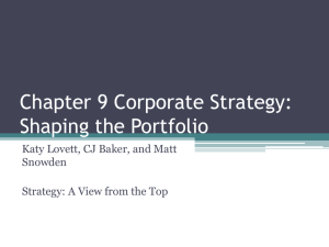 Chapter 9 Corporate Strategy: Shaping the Portfolio