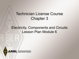 Module 6 – Electrical Components & Circuits C3