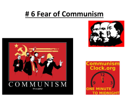 3 Fear of Communism