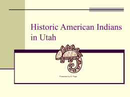 Historic American Indians in Utah