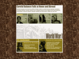PowerPoint Presentation - The Great War: World War I The War to