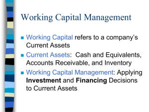 Working Capital Management ppts