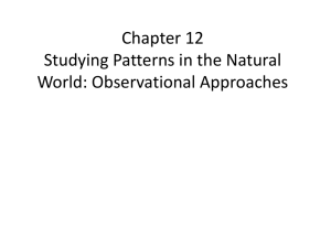 Chapter 12 Studying Patterns in the Natural World: Observational