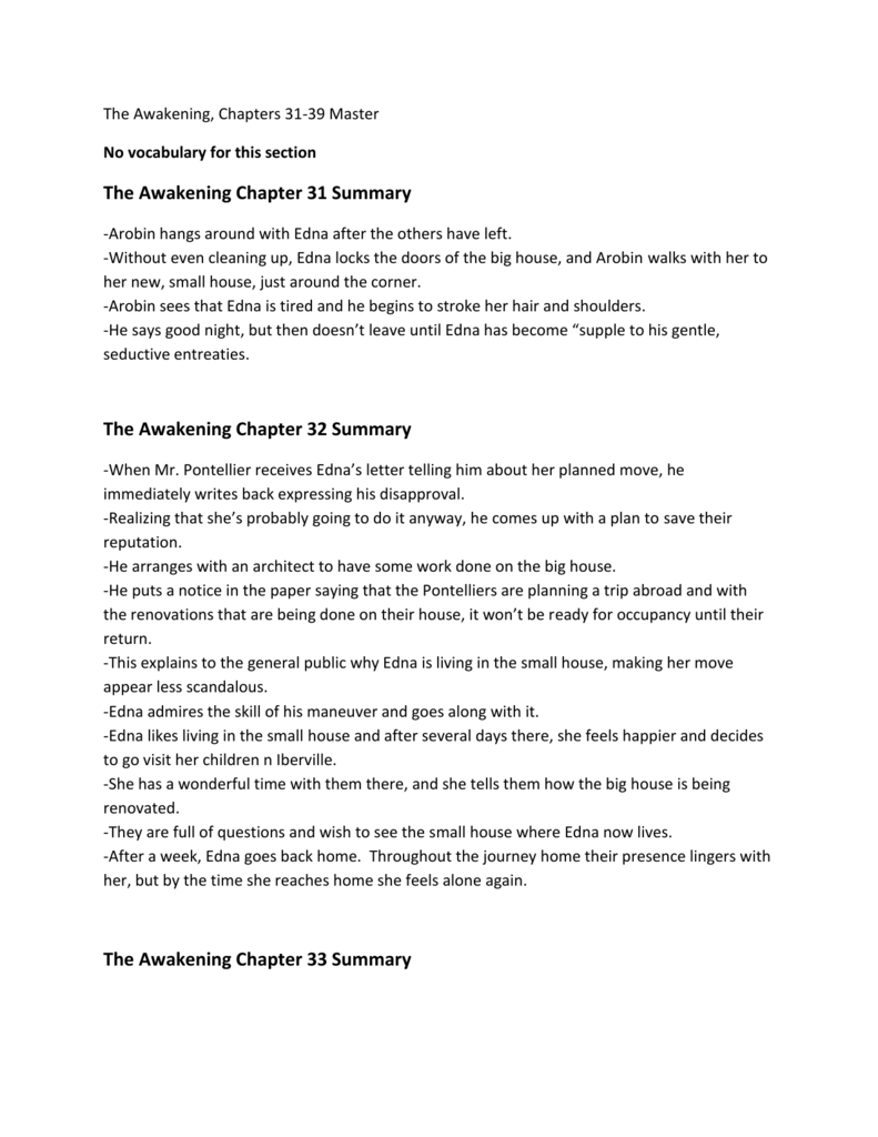 the awakening brief summary