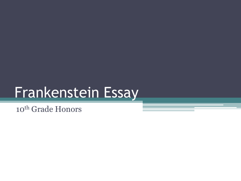 Compare And Contrast Essay Topics For High School Students  Examples Of Thesis Statements For Expository Essays also Examples Of Essay Papers Frankenstein Essay Lesson Powerpoint Essay On Healthcare