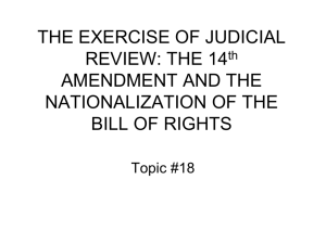 THE EXERCISE OF JUDICIAL REVIEW: THE 14th