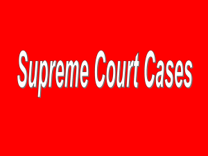 AP Government Supreme Court Case Review