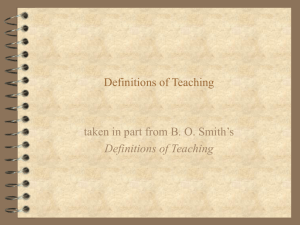 Definitions of Teaching