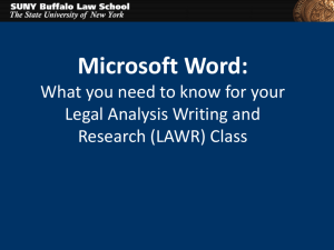 1L MS Word PowerPoint presentation