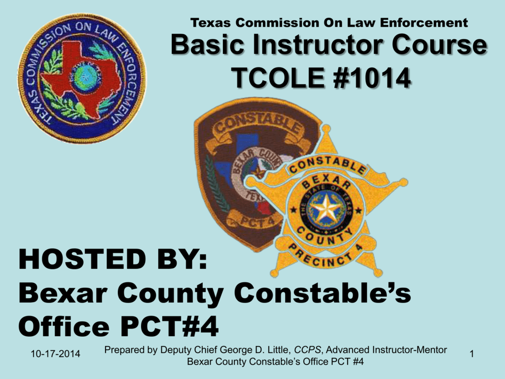 instructor course basic 1014 gdl tcole enforcement law texas