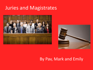 Juries and Magistrates presentation