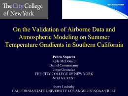 Coastal Cooling Effect Studies in California - NOAA