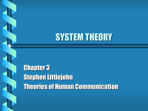 system theory - University of Maine System