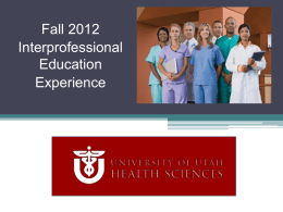 2011 - Interprofessional Education