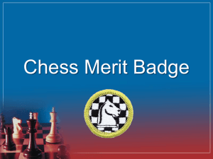 Chess Merit Badge Power Point