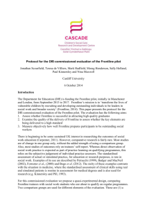 Protocol for the DfE-commissioned evaluation of the Frontline pilot