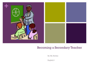 Becoming a Secondary Teacher