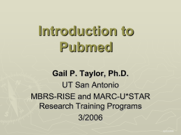Finding Research Information - The University of Texas at San Antonio