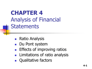 CHAPTER 3 Financial Statement Analysis