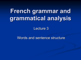 MT Lecture 3 Grammatical structure and the NP (nouns and articles).