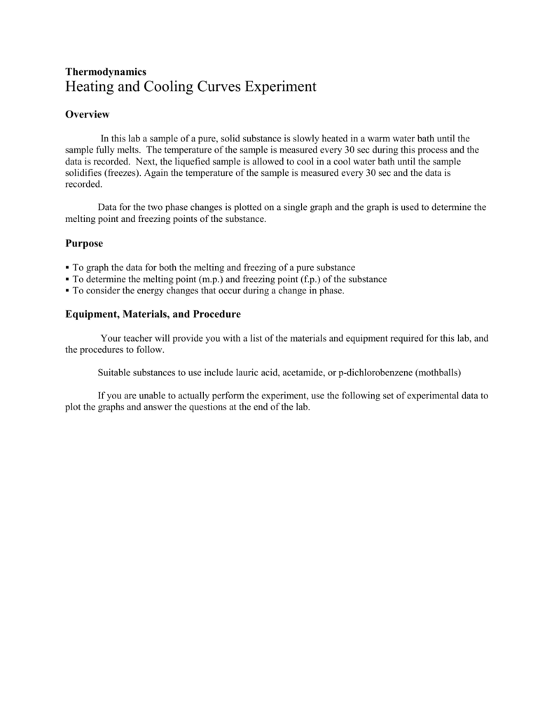 Heating And Cooling Curves Lab2