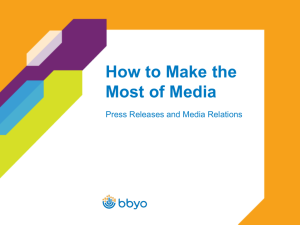 What is Media Relations?
