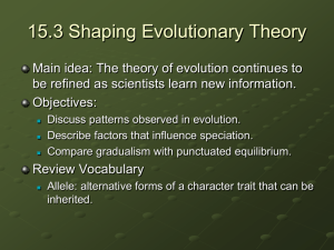 15.3 Shaping Evolutionary Theory PPT