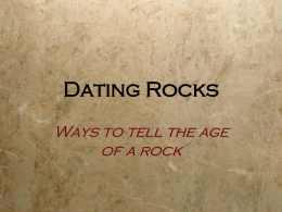 2 Ways to Date Rocks