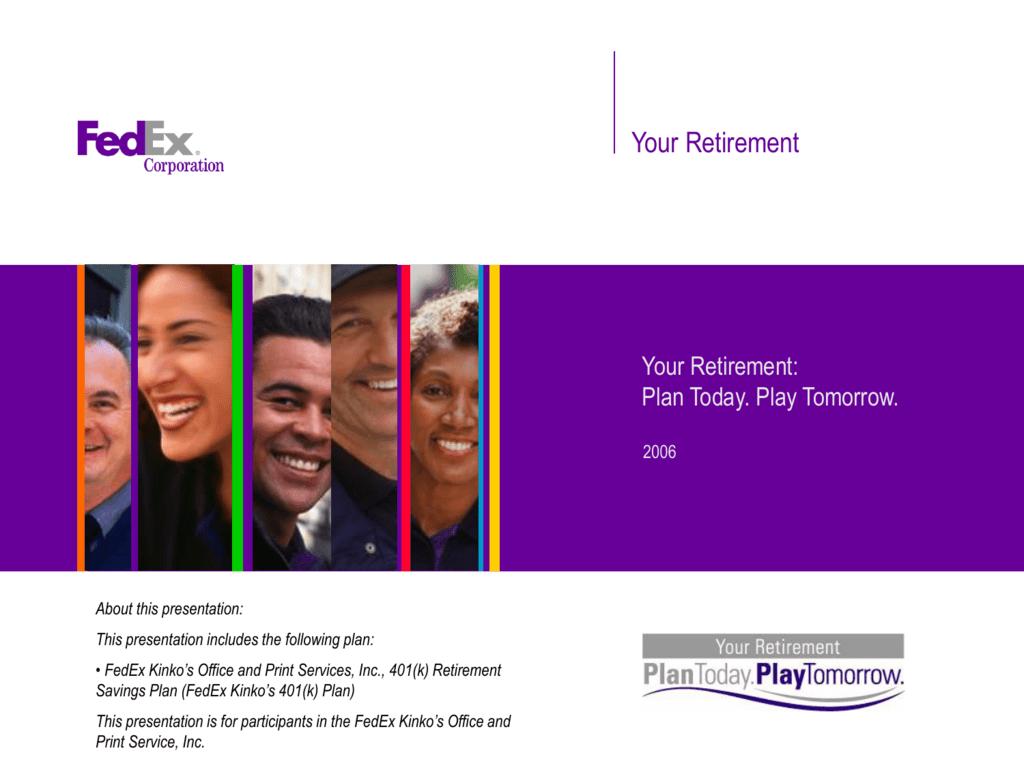 401(k) Plan - FedEx Benefits | Online