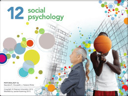 Chapter 12 Social Psychology