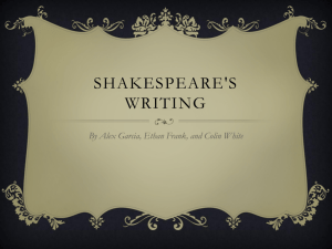 Shakespeare's Writing