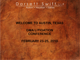 """GMA Litigation Conference: 'Come and Take It'"", February 23"