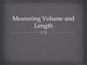 Measuring Volume by Displacement