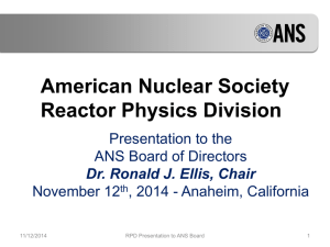 American Nuclear Society Reactor Physics Division