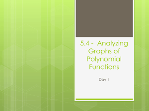 5.4 - Analyzing Graphs of Polynomial Functions