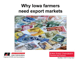 Why Iowa farmers need export markets
