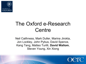 The Oxford e-Research Centre
