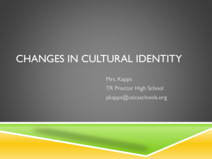 Changes in Cultural Identity