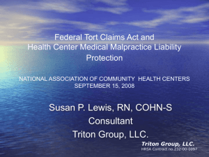 Federal Tort Claims Act - National Association of Community Health