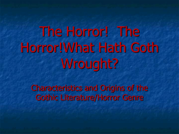 The Horror - What hath Goth wrought