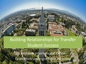 Building Relationships for Transfer Student Success