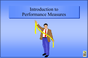 Introduction to Performance Measures