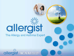 """The Value of Allergist Care"" Powerpoint"