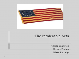 The Intolerable Acts - Robingirardi
