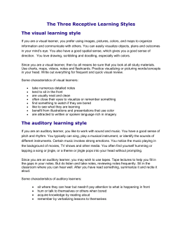 The auditory learning style