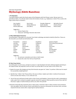 mythology studyguide Fjcl mythology study guide greek name roman name duty symbol zeus jupiter, jove king, weather thunderbolt, eagle hera juno queen, marriage peacock, cow poseidon neptune sea, earthquakes,.